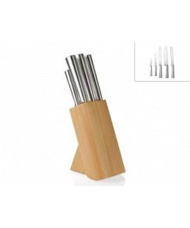 Ceppo coltelli- supporto in legno di caucciù