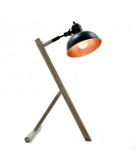 Lampada da tavolo Inart in legno e ferro